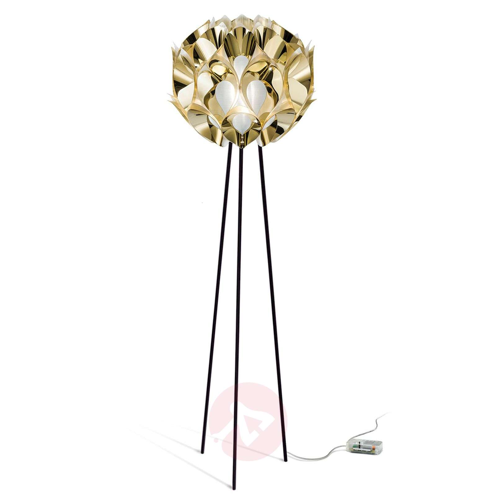 Czarująca lampa stojąca FLORA, złota-8503237-01