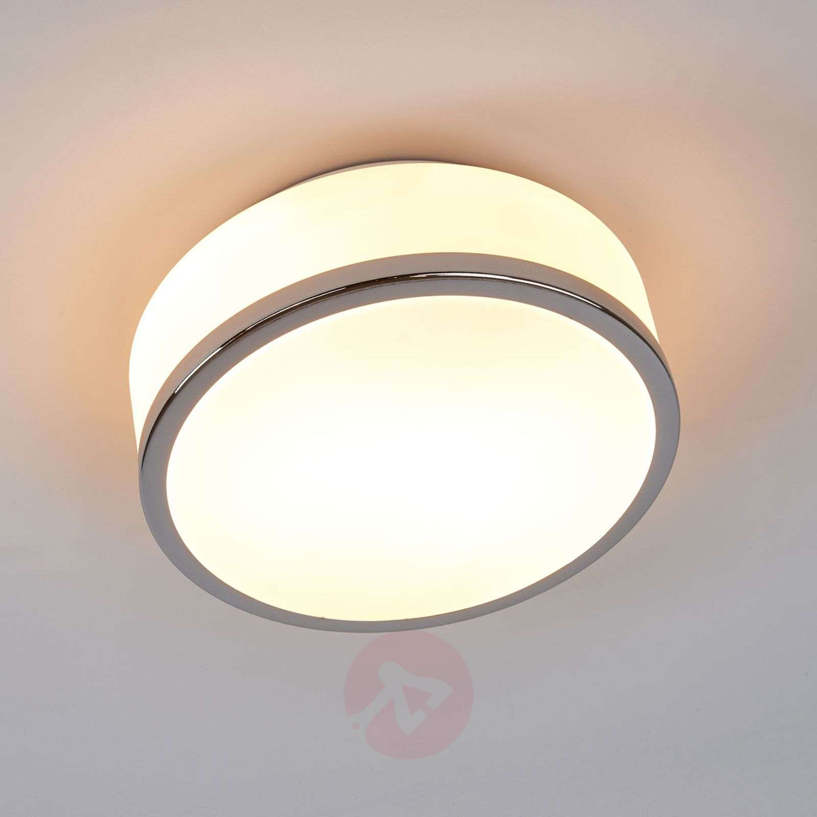 Lampa sufitowa Flush IP44, Ø 23 cm, chrom