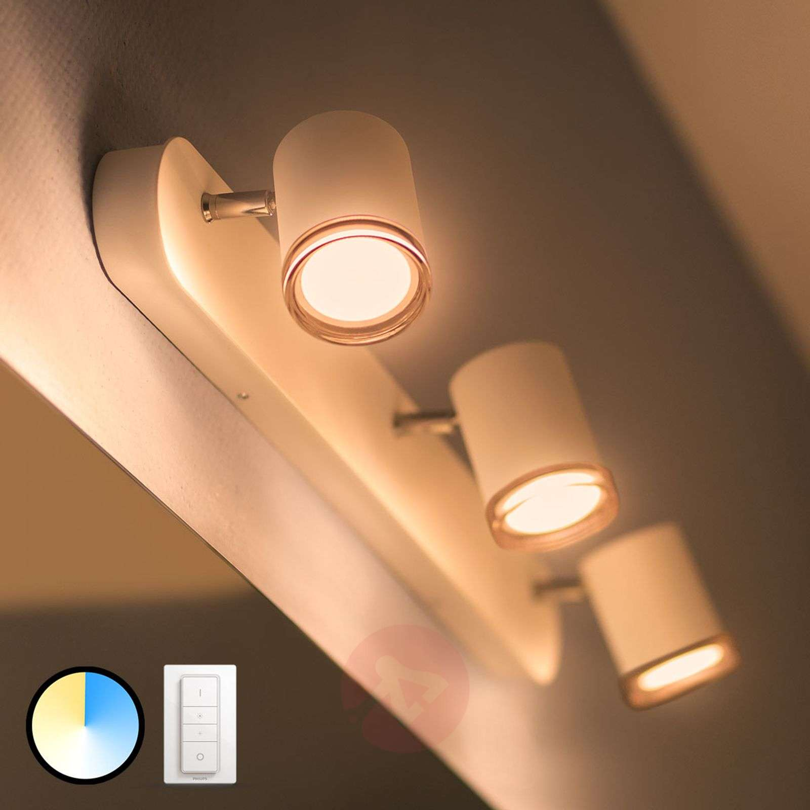 Philips Hue White Ambiance Adore, spot LED 3-pkt.-7534073-02