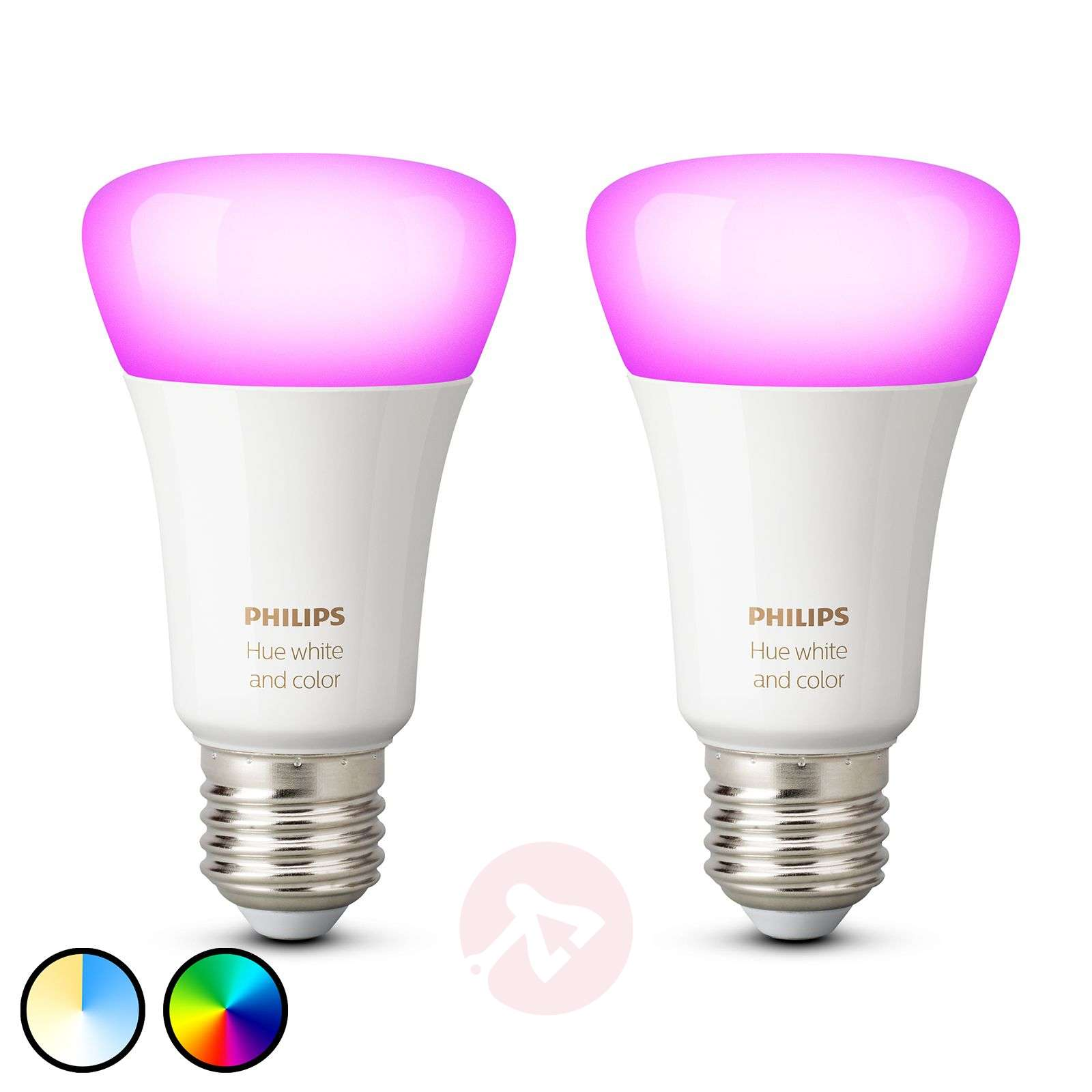 Philips Hue White and Color Ambiance 9W E27, 2 szt.-7534124-01
