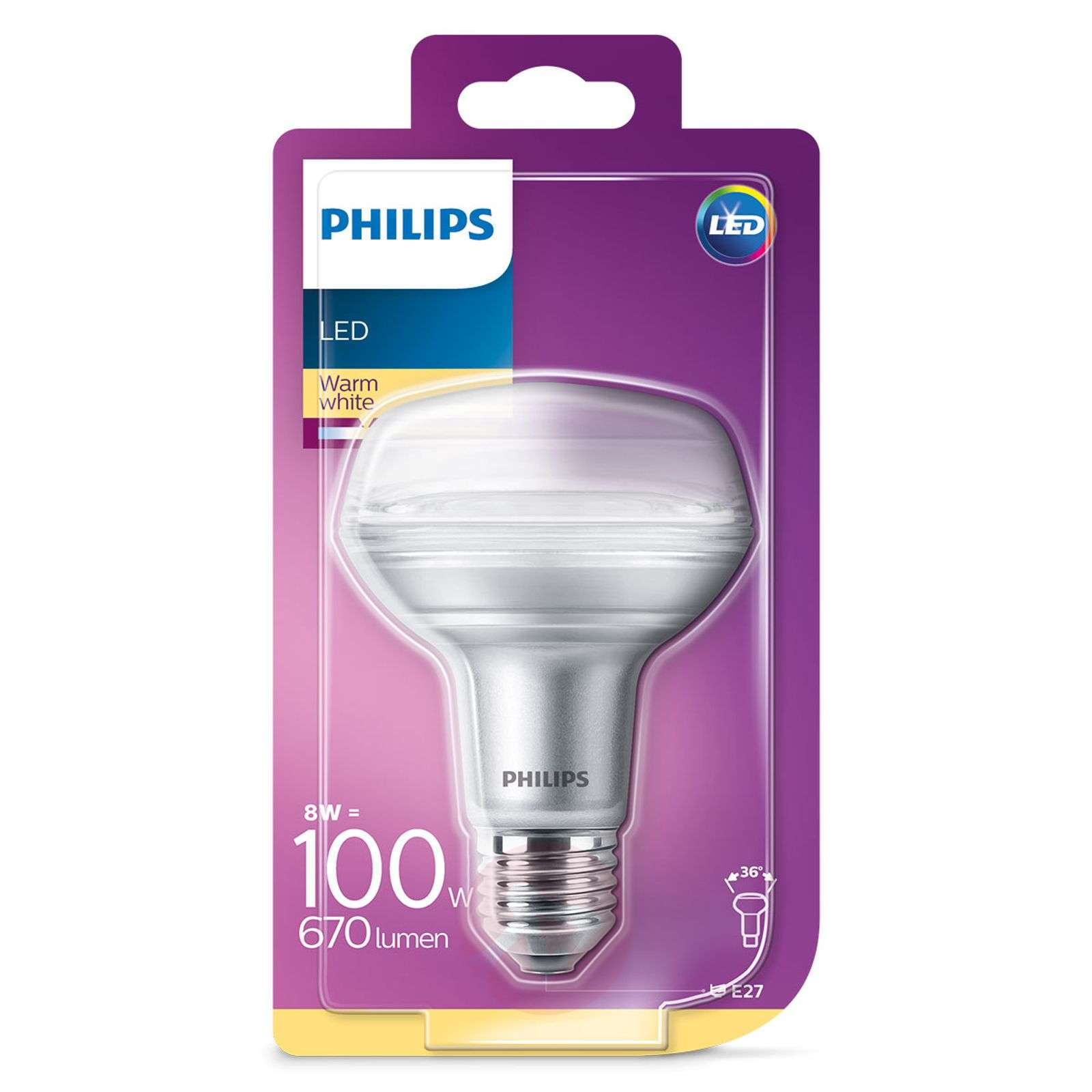 Philips reflektor LED E27 8W 827 R80-7530824-01