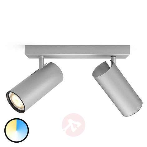 Philips Hue Buratto spot LED aluminium 2-pkt.