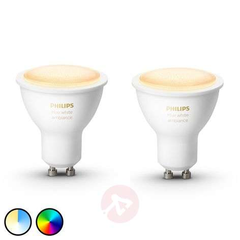 Philips Hue White Ambiance 5 W GU10 LED, 2 szt.