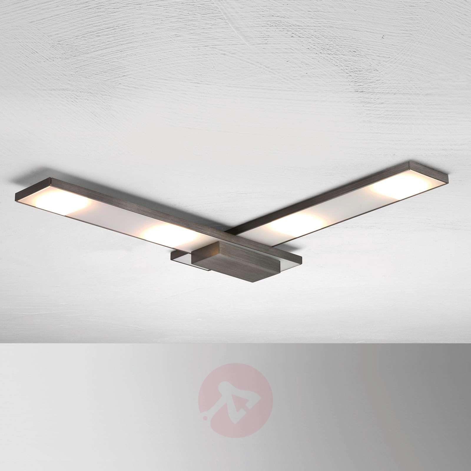 Wyrafinowana lampa sufitowa LED Slight, antracyt