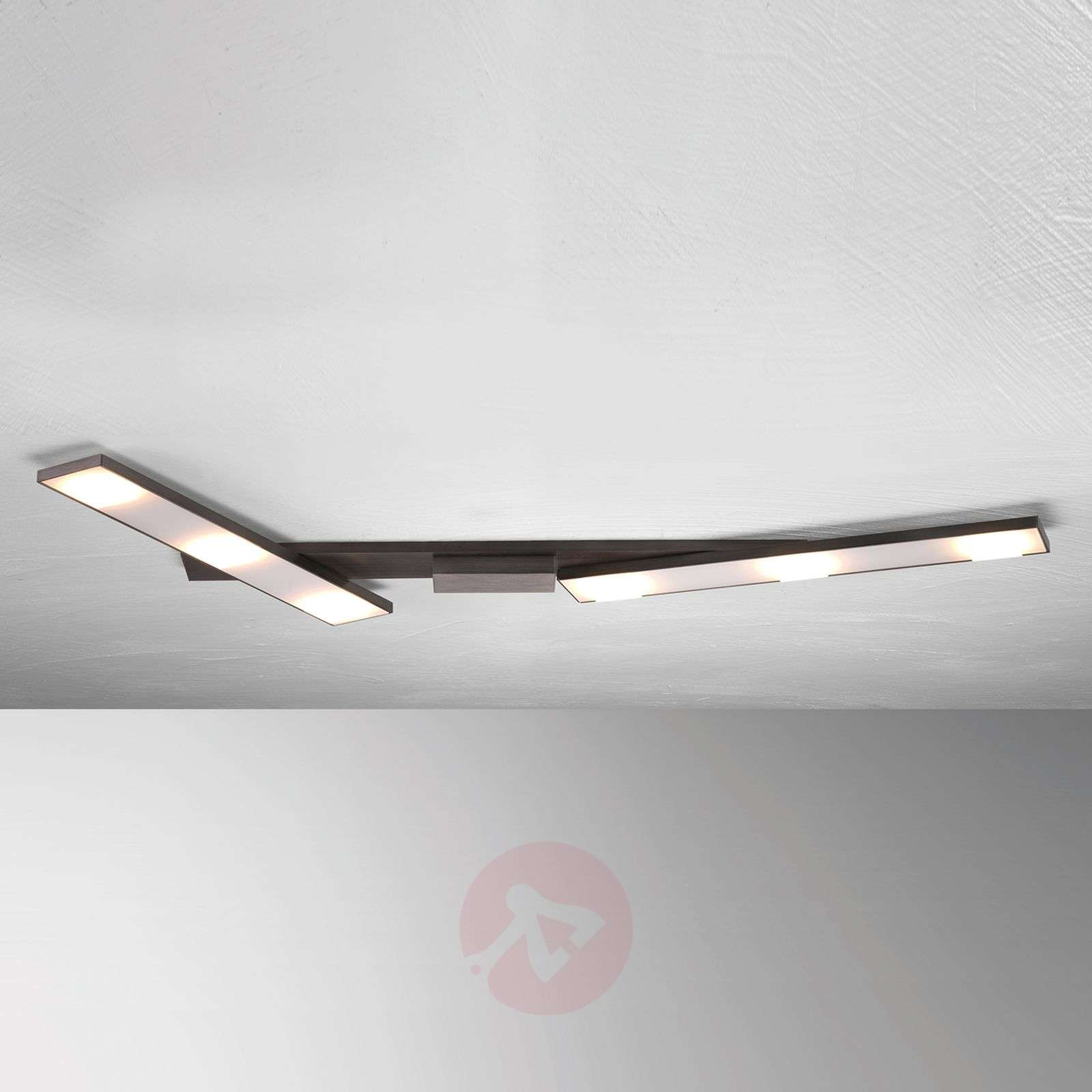 Odchylana lampa sufitowa LED Slight, antracyt