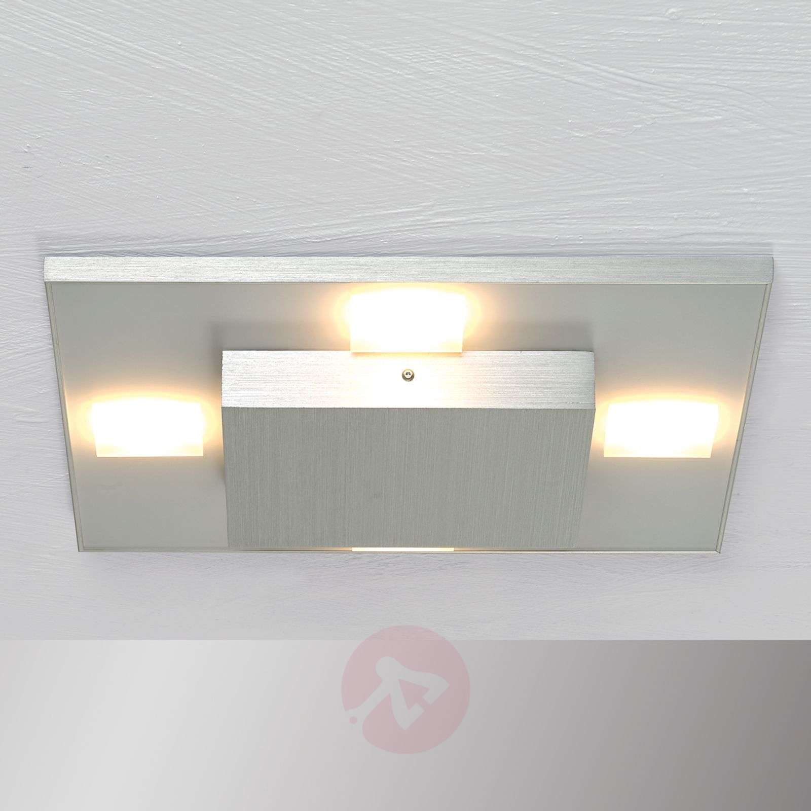 Kwadratowa lampa sufitowa LED Slight, aluminiowa