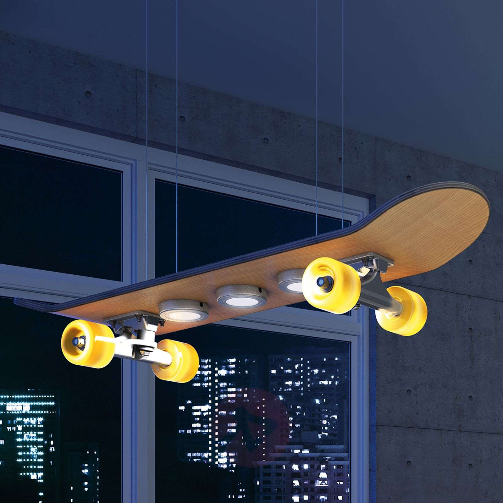 Light Cruiser -lampa wisząca LED skateboard