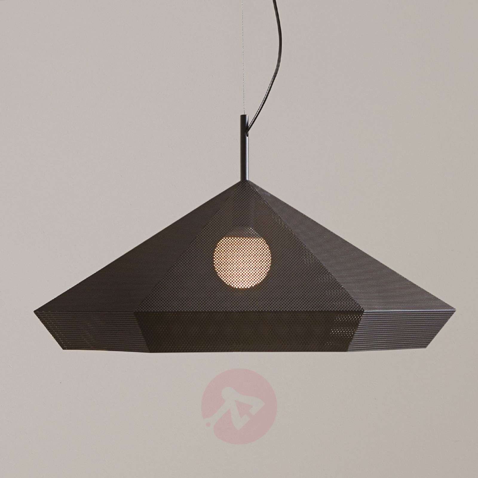 Designerska lampa wisząca Priamo, czarna, 77 cm