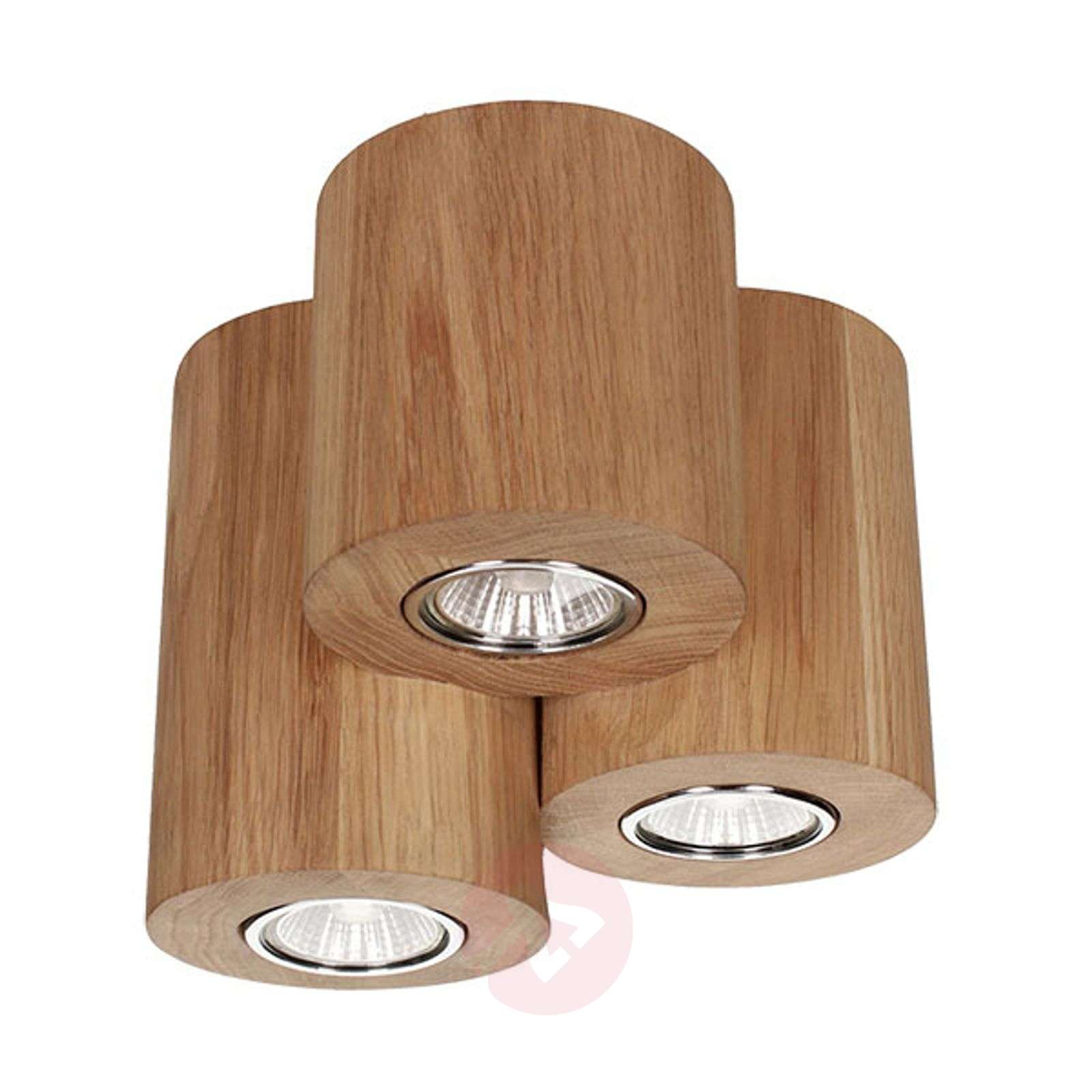 3-punktowa lampa sufitowa LED Wooddream
