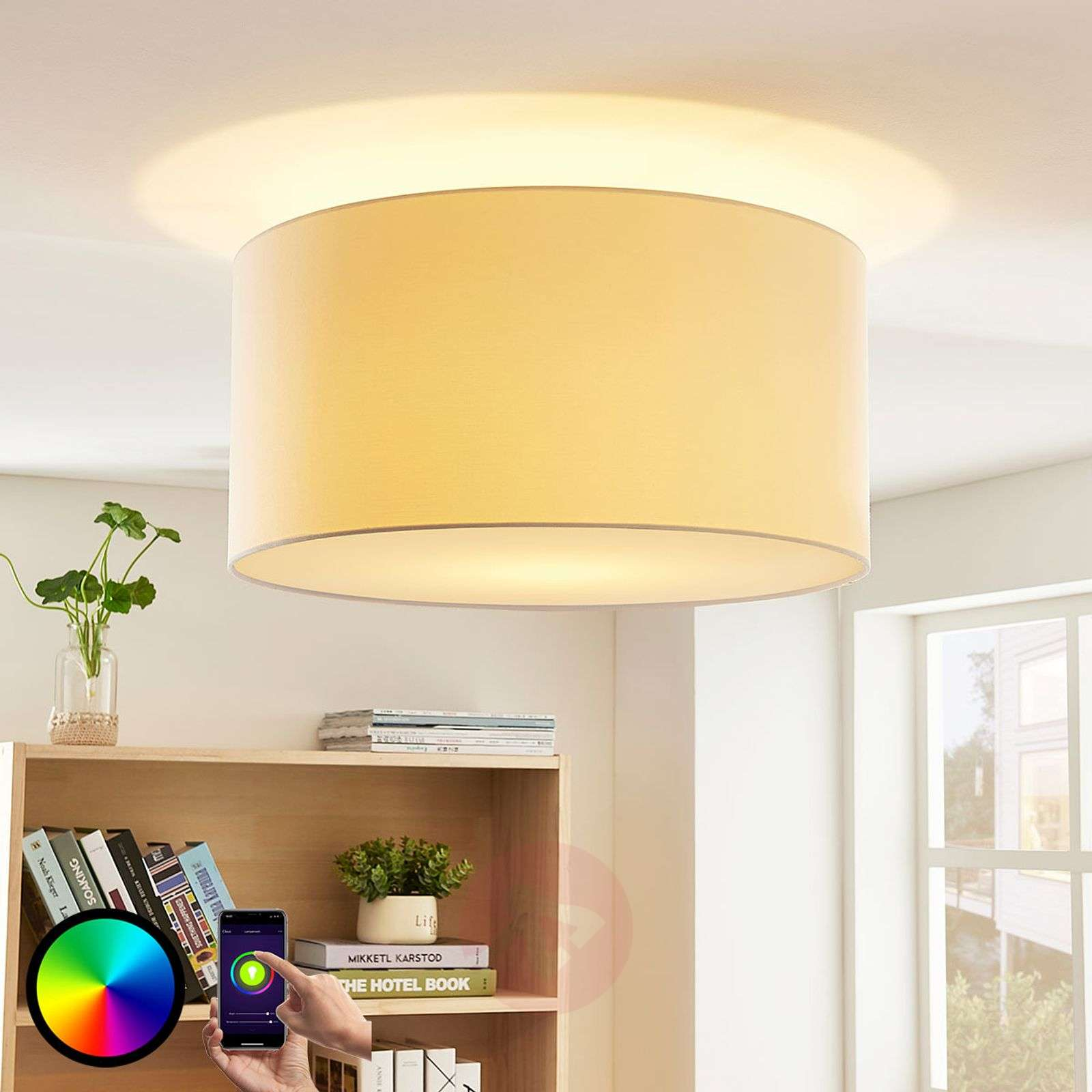 Lindby Smart lampa sufitowa LED RGB Everly, app