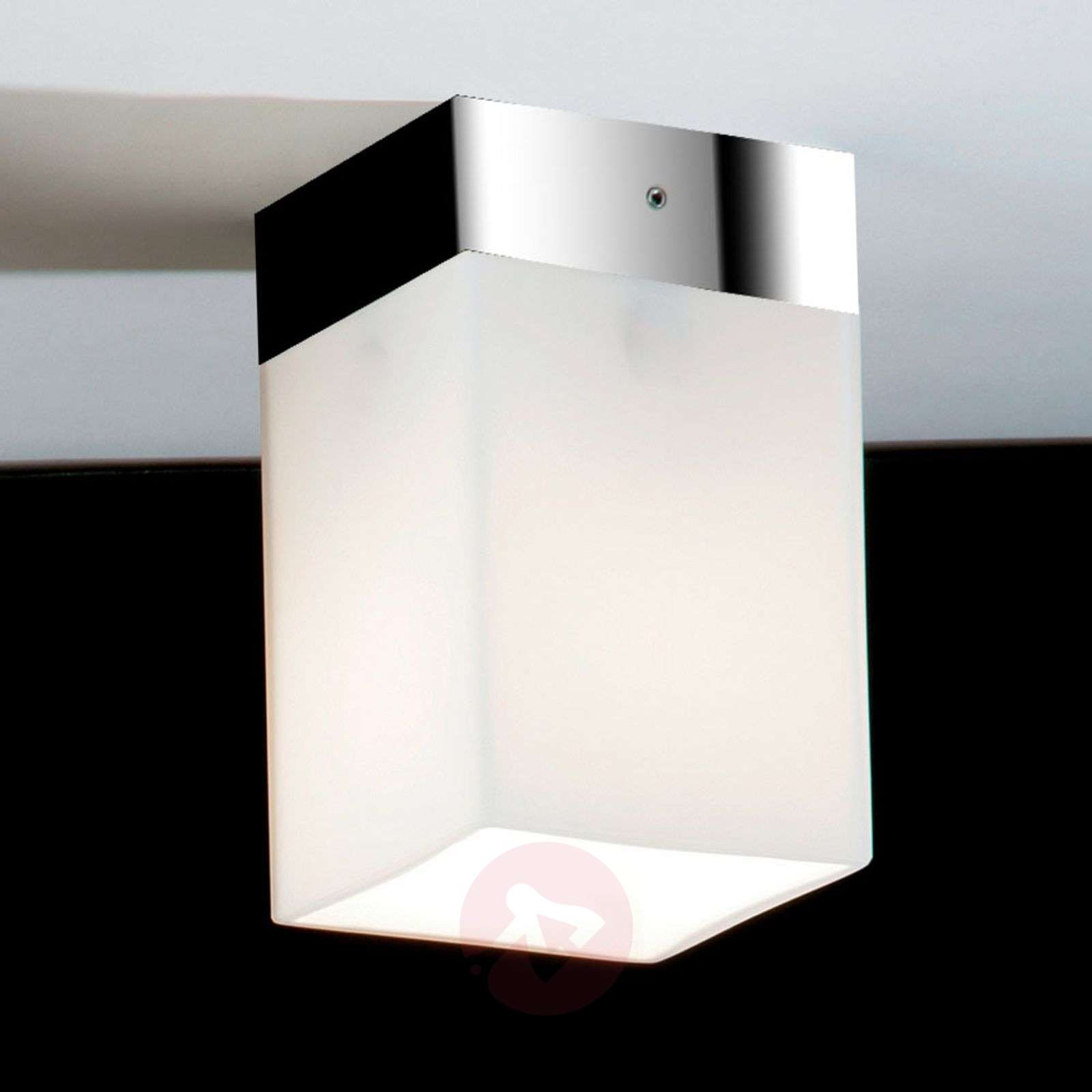 Krótka lampa sufitowa QUADRO BOX SHORT, chrom
